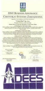 Certyfikacja w zakresie Iso